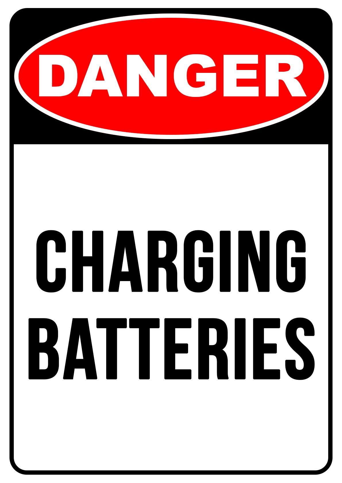 Danger Charging Batteries - Safety Sign Australia