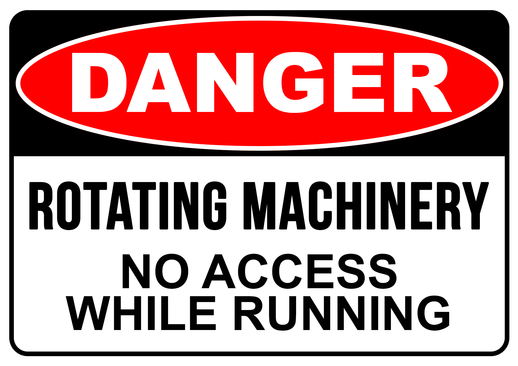 Danger Rotating Machine - Safety Sign Australia