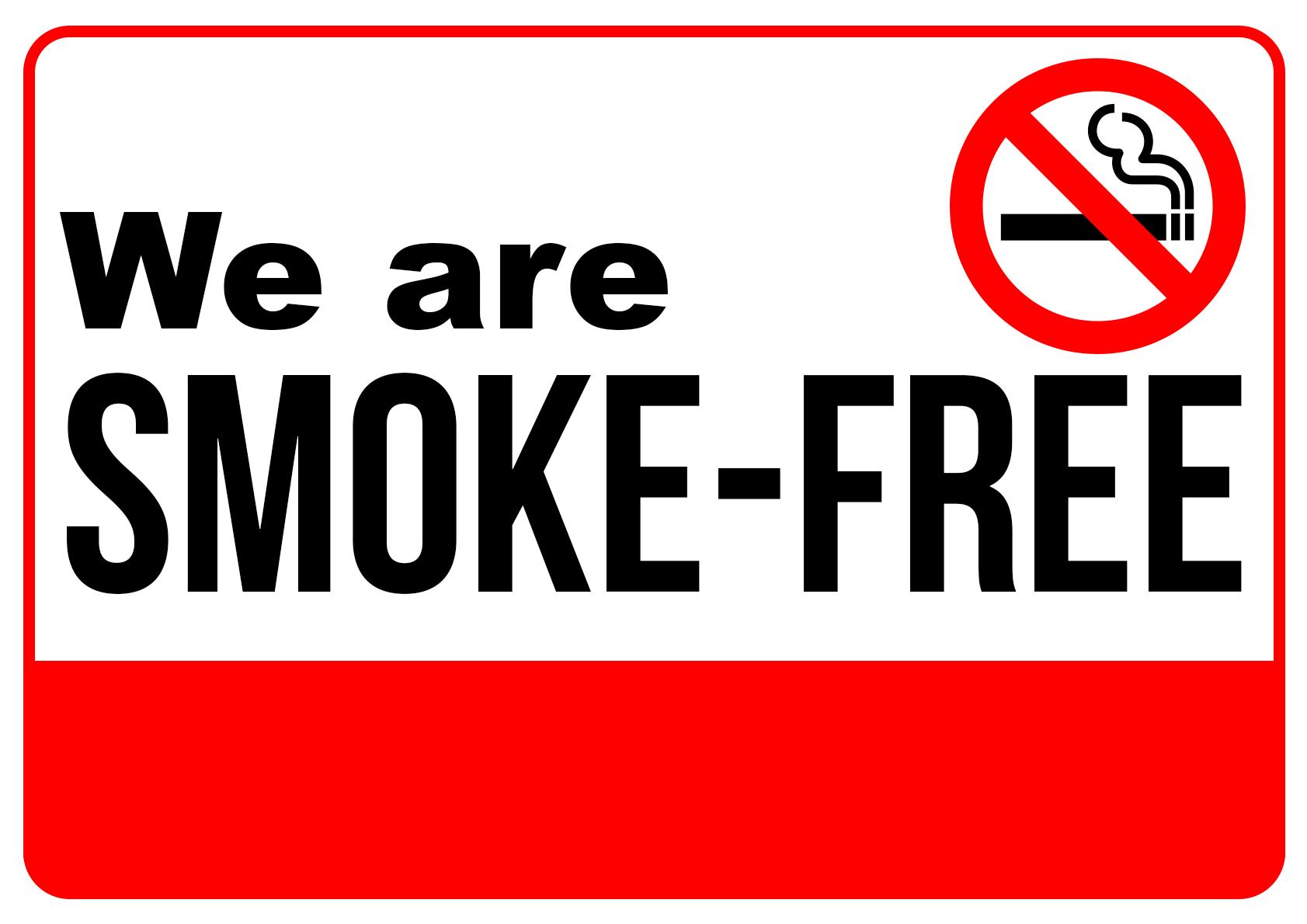 We Are Smoke free