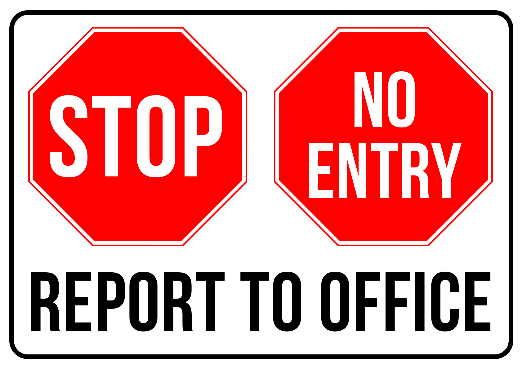 Stop Report to Office