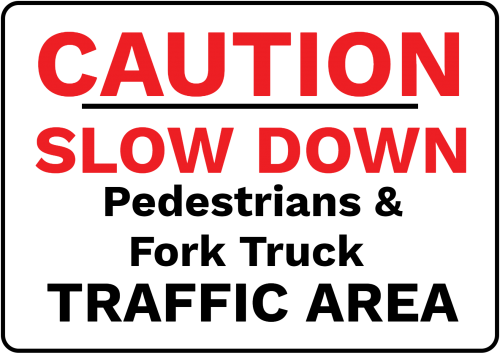 Caution Slow Dow Pedestrian Sign - Safety/Warning Sign Australia