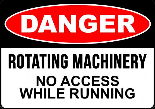 Danger Rotating Machinery Sign