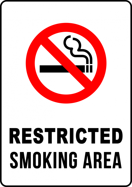 Smoking Restricted In This Area Sign