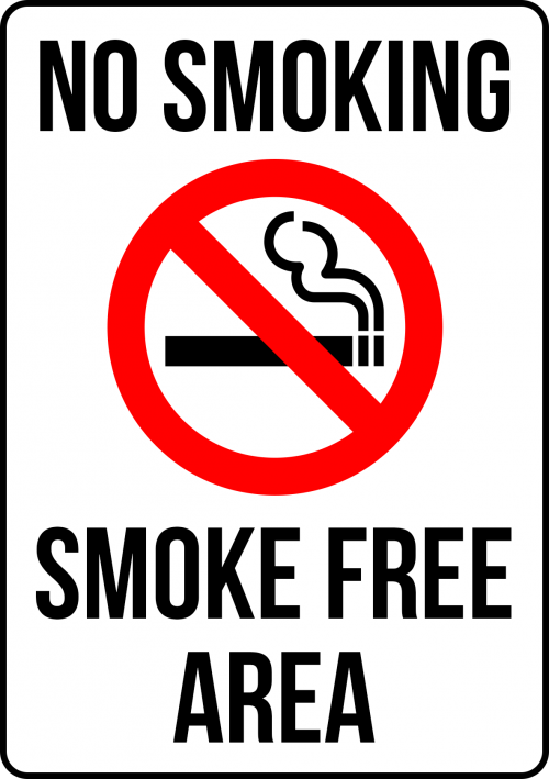 SMOKING SMOKE FREE AREA SMO009