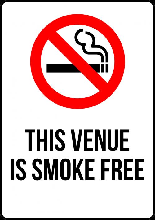 Smoke Free Venue Sign