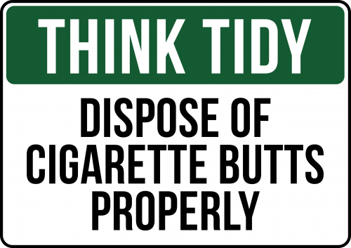 Funny smoking sign