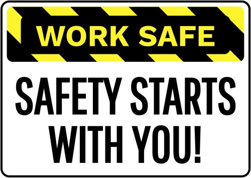 Work Safe Safety Starts Sign - Safety Sign Australia