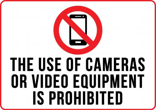 Cameras Phobited Sign