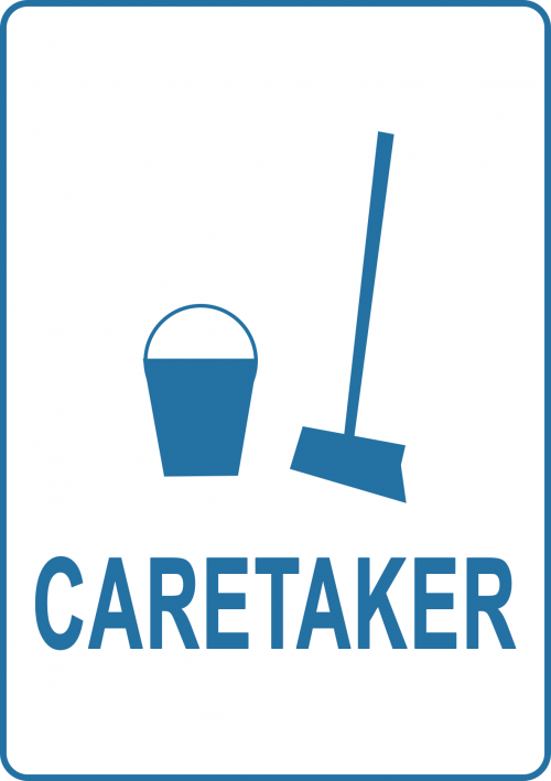 Caretaker-Sign