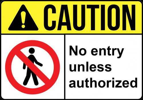 Caution-No-Entry-Sign - Not Enter Sign Australia