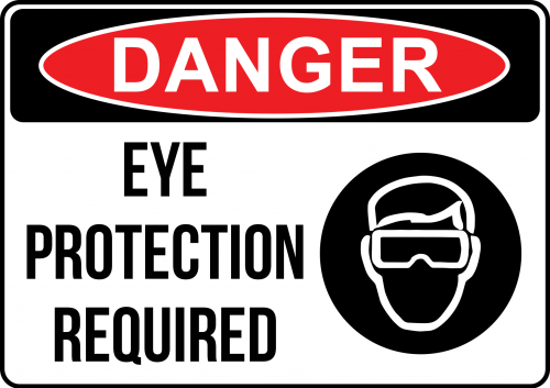 Danger Eye Protection Sign - Warning Signs Australia