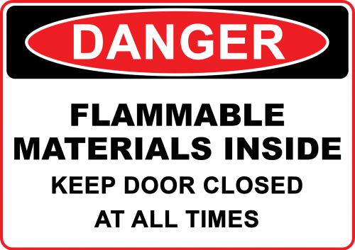 Danger Flammable Materials Sign - Warning Signs Australia