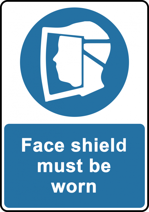 Face Shield Sign - Safety Sign Australia