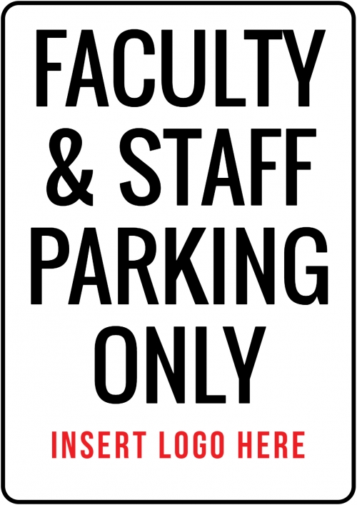 Faculty Parking Sign