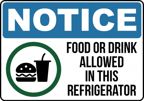Food and Drink Allowed Sign