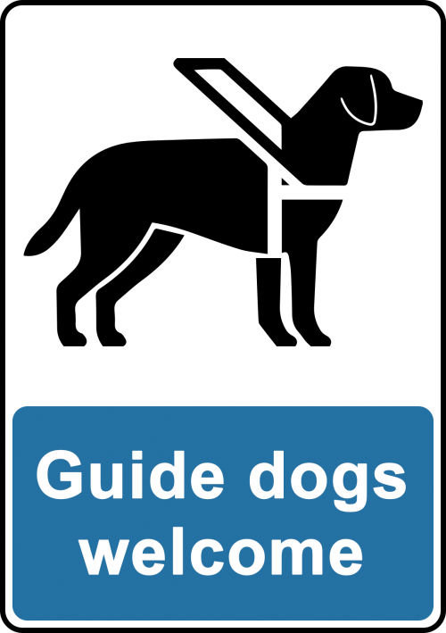 Guide Dogs Welcome