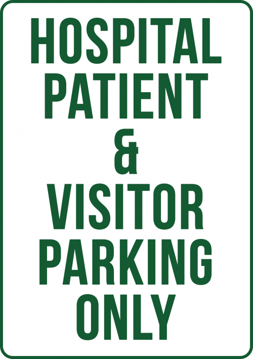 Hospital Patient Visitor Parking Sign