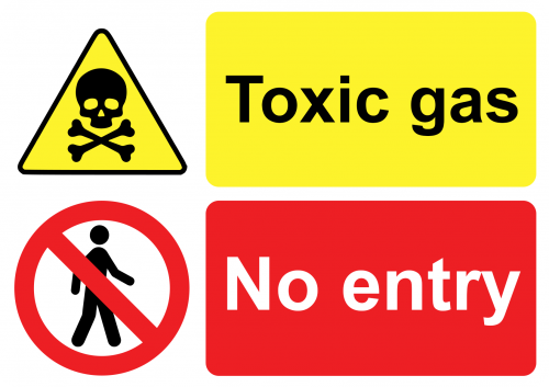 No Entry Toxic Gas Sign
