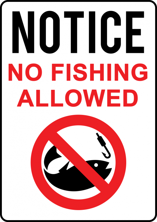 No Fishing Allowed Sign COU004