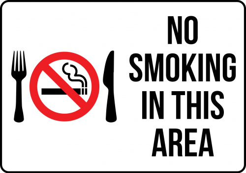 No Smoking Dining Sign