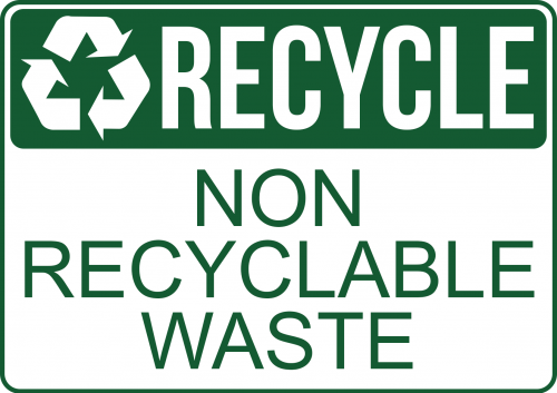 Recycle Non Recyclable Waste Sign