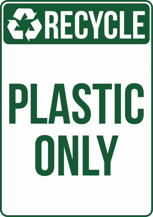 Recycle Pastic Sign