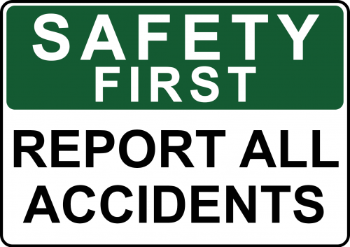 Report All Accidents Sign - Safety Sign Australia