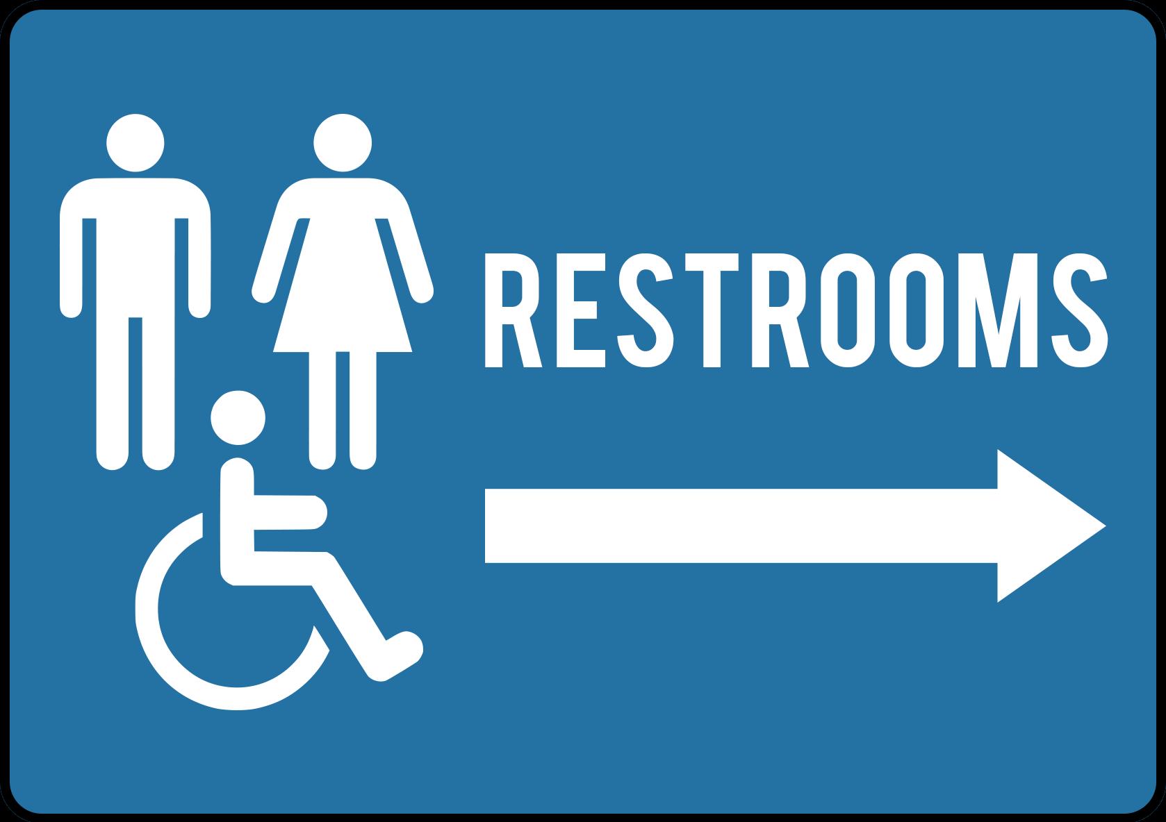 Restroom Sign DIR012 - Create Signs