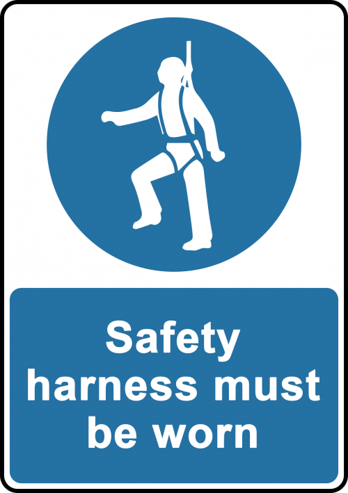 Safety Harness Sign - Safety Sign Australia