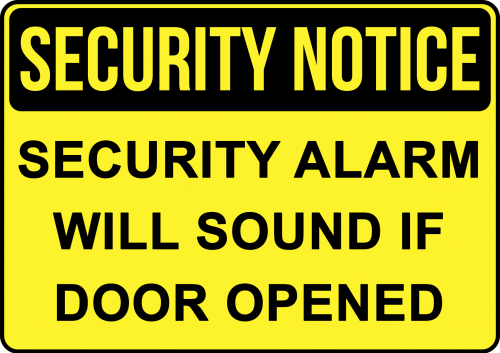 Security Alarm Will Sound