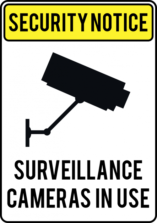 Surveillance Camera Sign