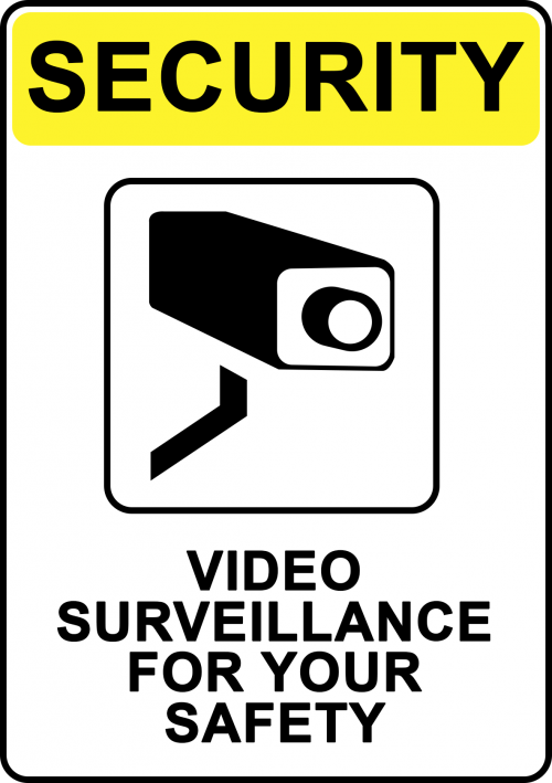 Surveillance For Your Safety Sign