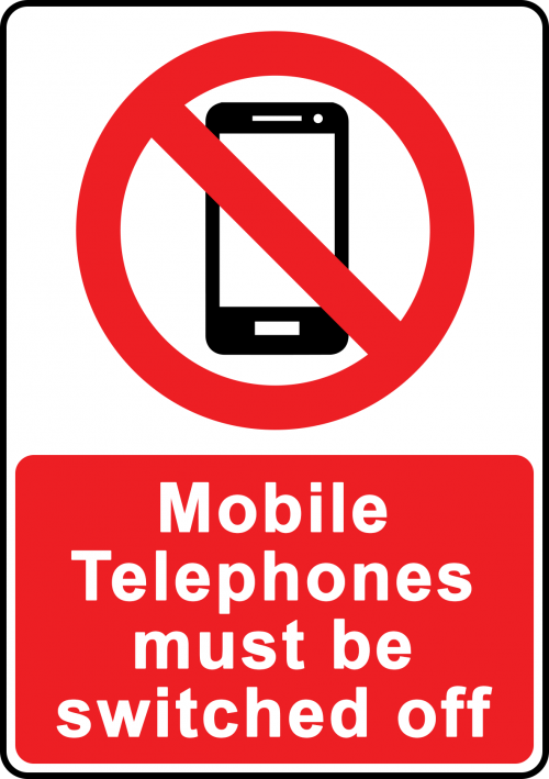 Switch Mobiles Off Sign VEN001