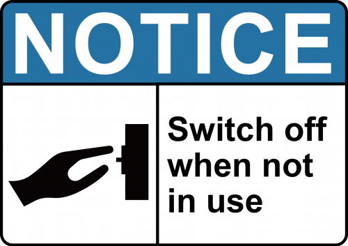 Switch Off Sign