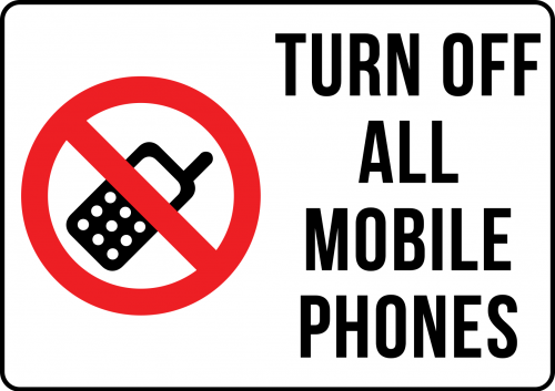 Turn Off Mobile Sign Landscape