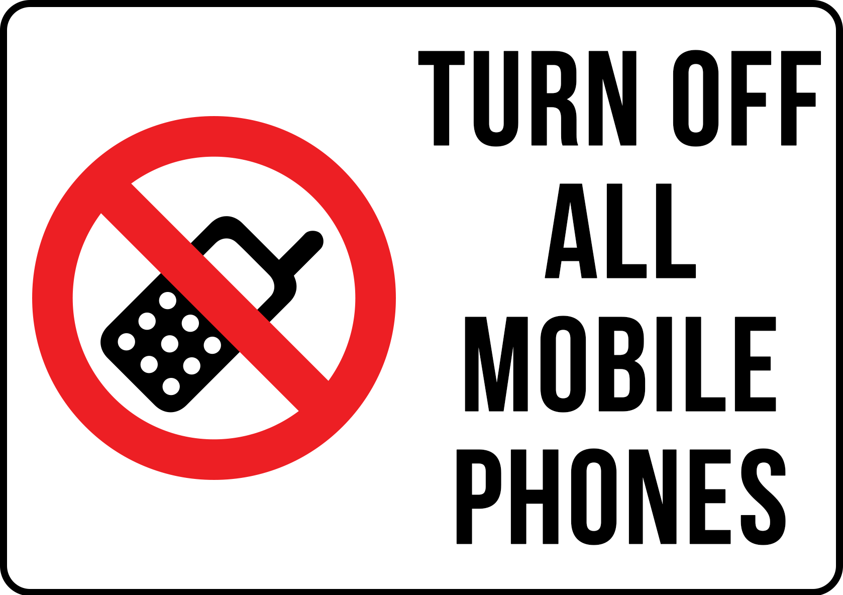 turn off mobile sign landscape hos011