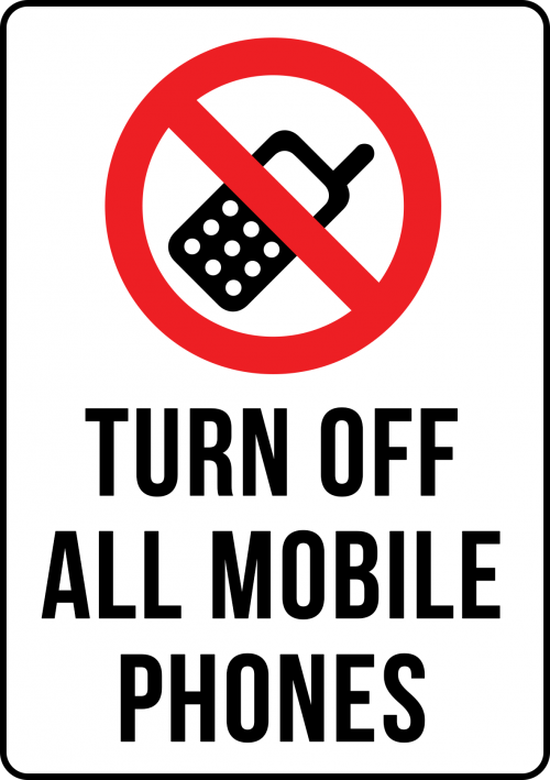 Turn Off Mobile Sign Portrait