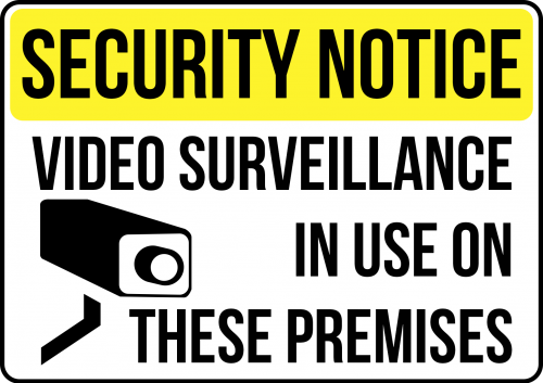 Video Surveillance Is Used On This Premises Sign