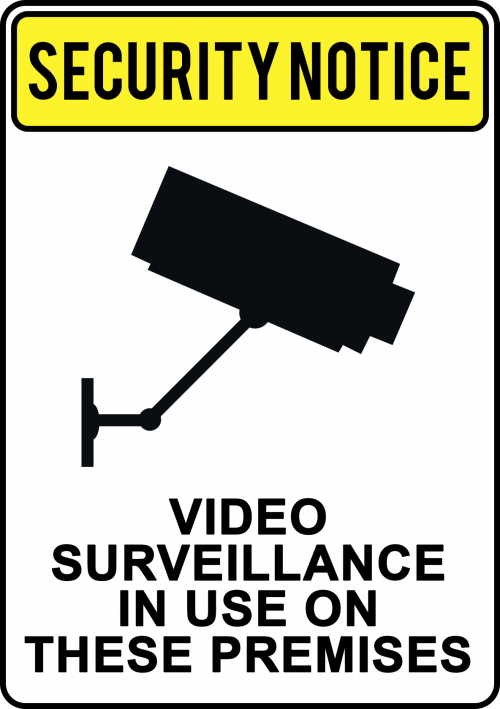 Video Surveillance Used Sign