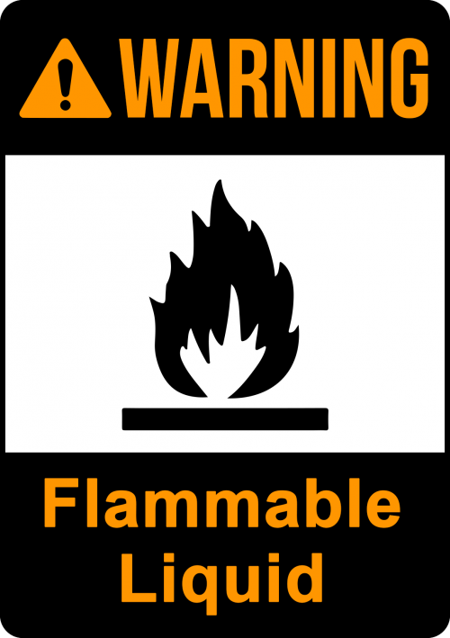 Warning Flammable Liquid Sign - Warning Signs Australia