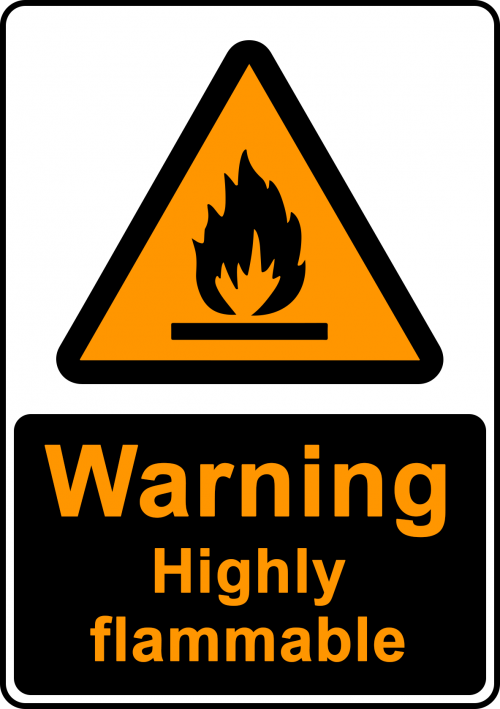 Warning Highly Flammable Sign - Warning Signs Australia