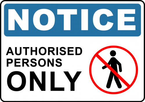 Notice Authorised Persons Only Sign - Not Enter Sign Australia