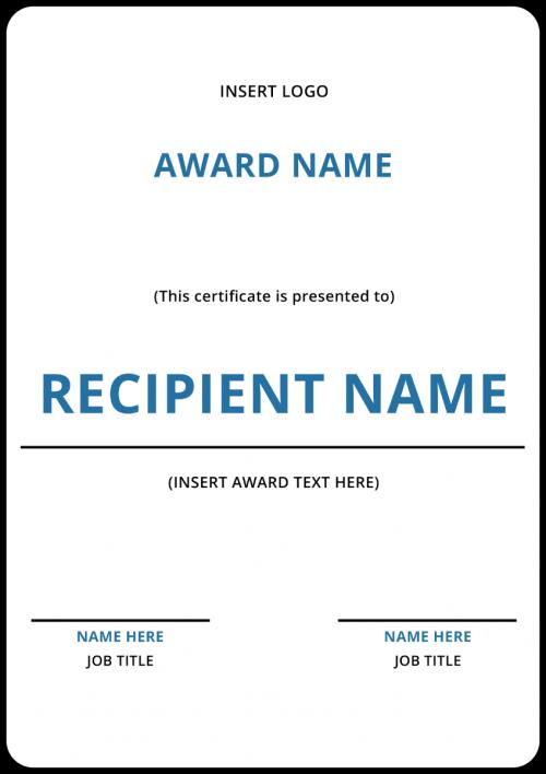 Insert Certificate