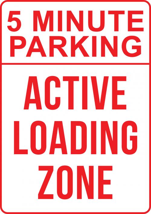 5 min parking sign
