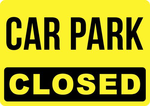 Closed Car Park Sign