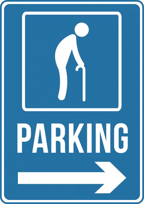 Elderly Parking Only Sign