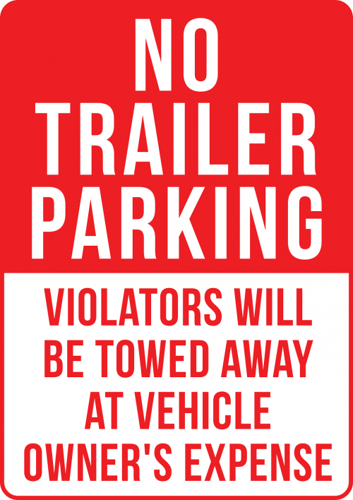 Trailer Parking Prohibited Sign