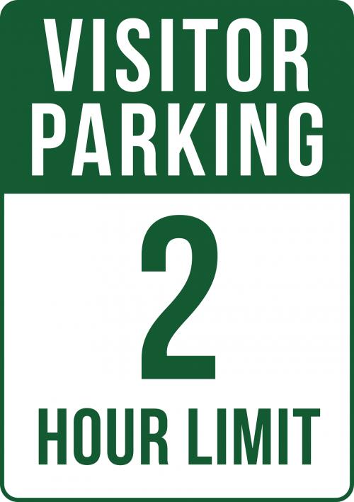 2 Hour Limit Visitor Parking Sign