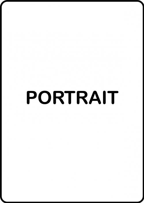 Create Custom Portrait Sign